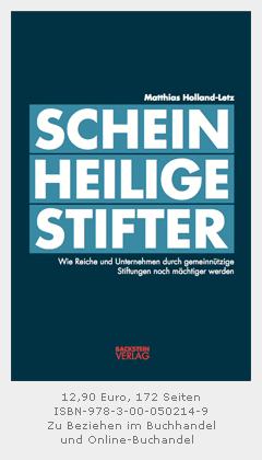 Buchcover Scheinheilige Stifter